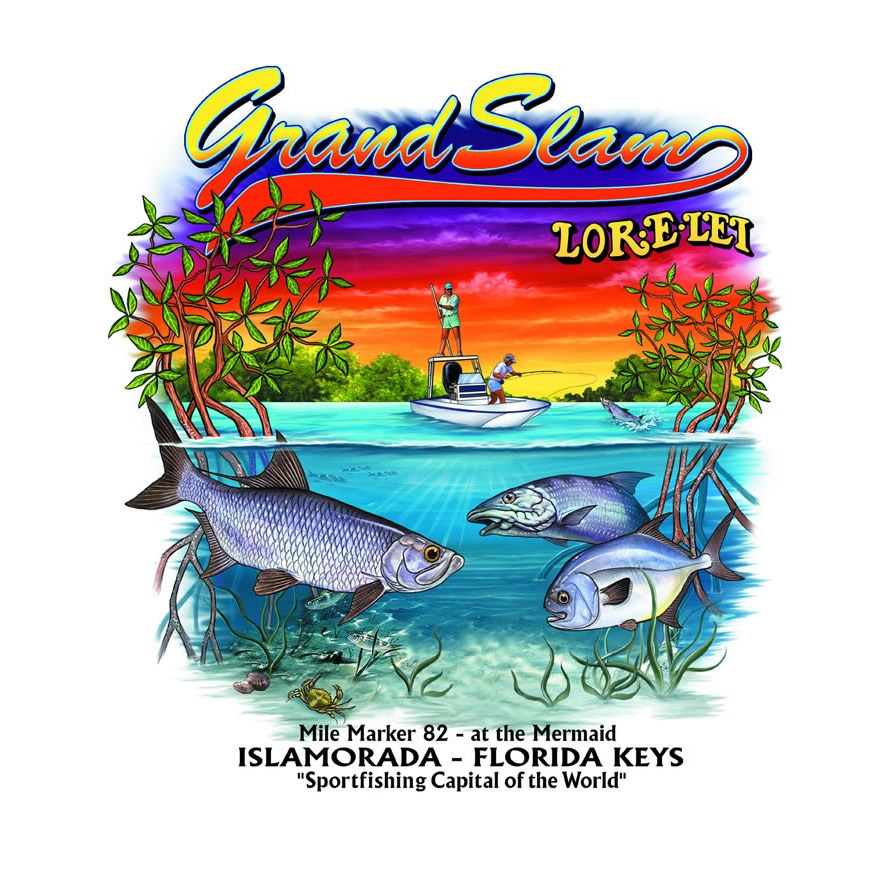 Shop fishing team shirts at the lorelei cabana bar online for Grand slam fishing