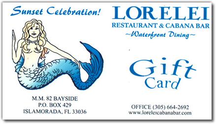 Lorelei Gift Certificates