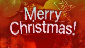 Merry Christmas! We Will Close At 8 pm