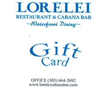 Lorelei gift cards